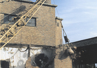 Flax Factory Demolition - Queens Estate, Sandringham - 2001